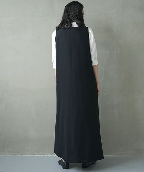 Mochi モチ v-neck dress [ms02-op-03]