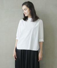 Mochi モチ gather blouse [ms02-sh-05/white]