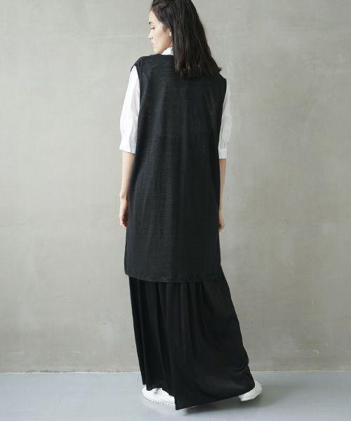 Mochi モチ linen knit vest [ms02-v-01]