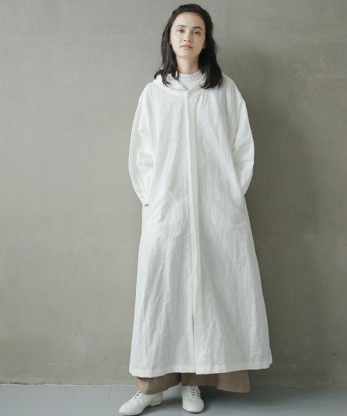 Mochi モチ hood shirt coat [ms02-co-01/white]