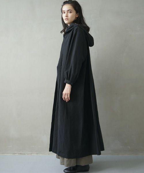 Mochi モチ hood shirt coat [ms02-co-01/black]