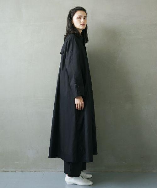 Mochi モチ trench coat [ms02-co-02/black]