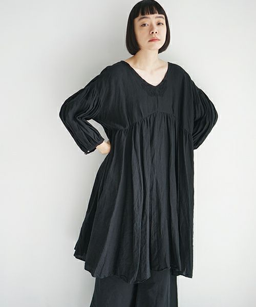 suzuki takayuki×Palm maison スズキタカユキ【別注】 chasuble dress [black]