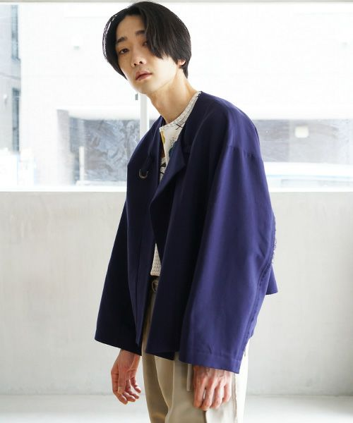 ohta オオタ blue wide jacket[jk-37B]