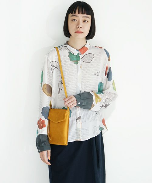 ohta オオタ yellow slim letter bag[ac-21Y8]
