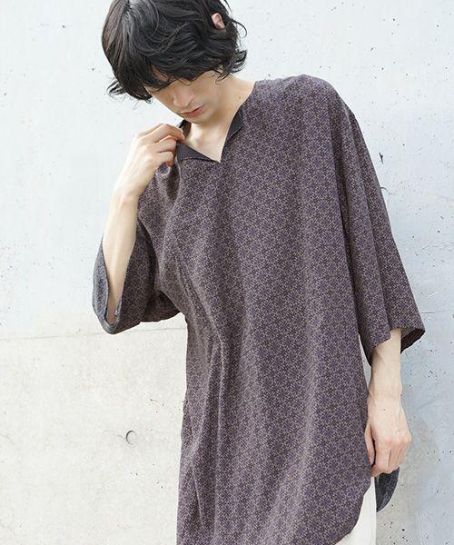 Edwina Hoerl エドウィナホールt-shirt[13A/EH40SH-01/beige/bordeaux]