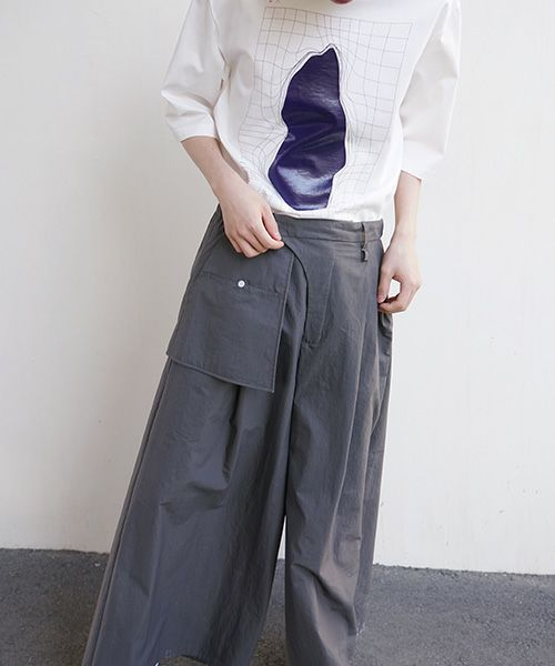 hatra ハトラ Organ Sway Pants[BT04-CHARCOAL]