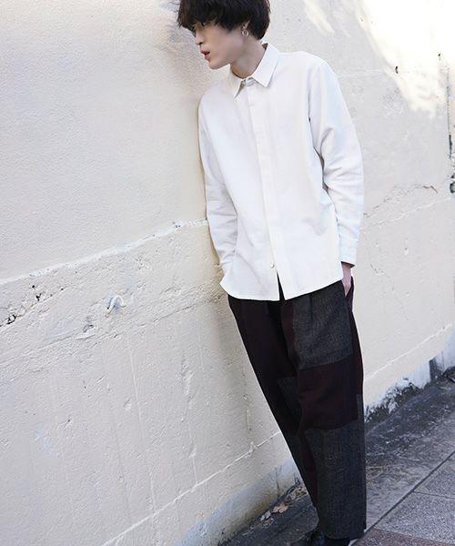 YANTOR ヤントル 6ply Khadi Shirts[Y203SH05/WHITE]