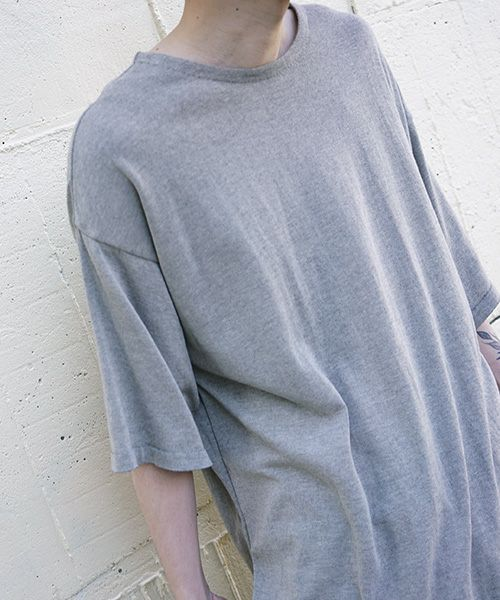 YANTOR ヤントル 14G Cotton Knit Wide Pullover[Y203KN03/BEIGE]