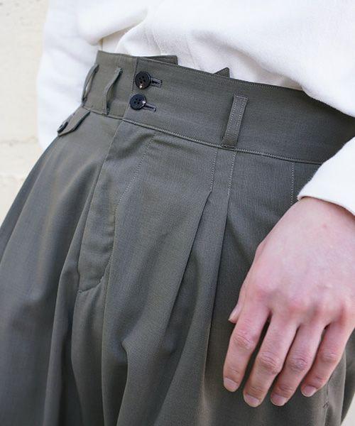 YANTOR ヤントル Torowool 2tuck Wide Pants[Y203PT02/OLIVEGRAY]