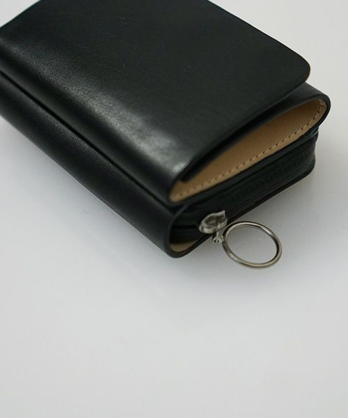 EDROBERTJUDSON エドロバートジャドソン WATER REPELLENT LEATHER MINI WALLET[B01I WL-43 / 05.BLACK]
