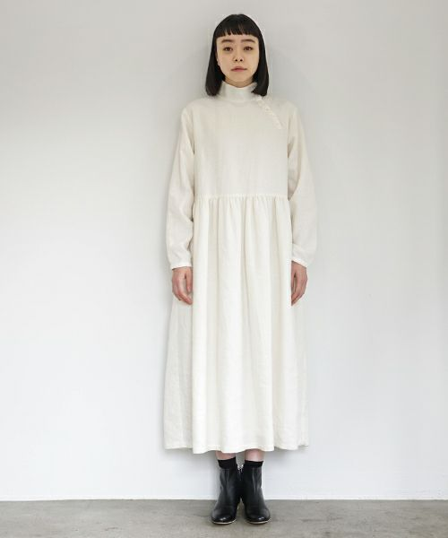 Mochi モチ gather dress [off white]