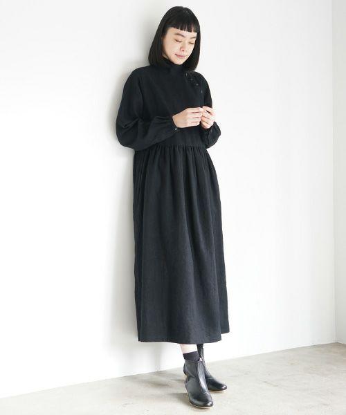 Mochi モチ gather dress [black]