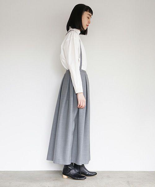 Mochi モチ suspender skirt [grey]