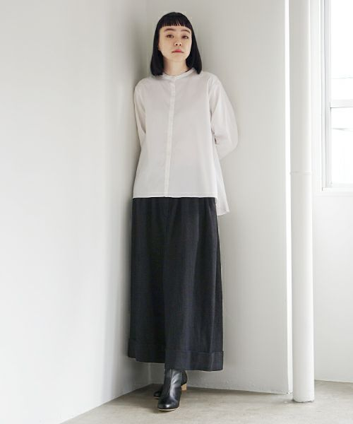 Mochi モチ cropped wide pants [black]