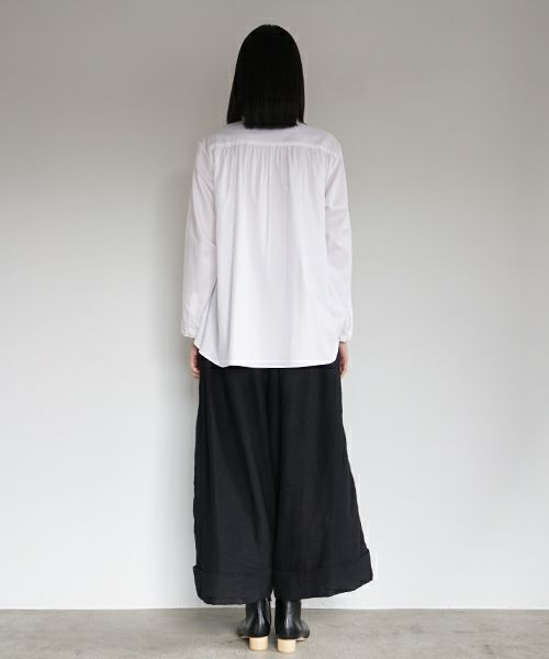 Mochi モチ cropped wide pants [black]