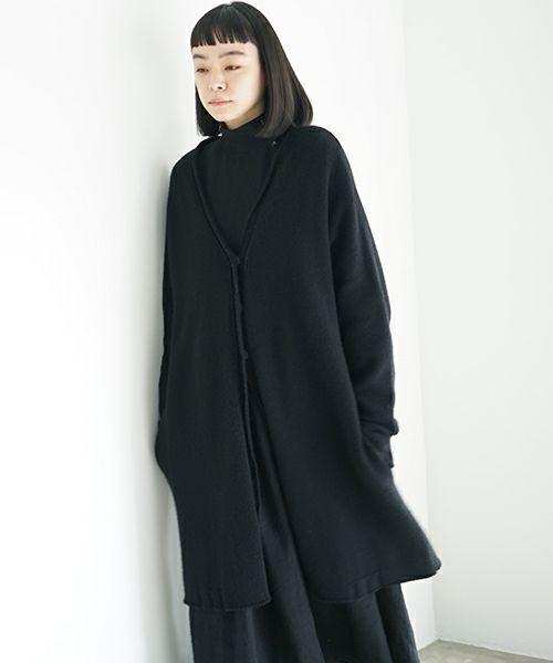Mochi モチ long-knit cardigan [black]