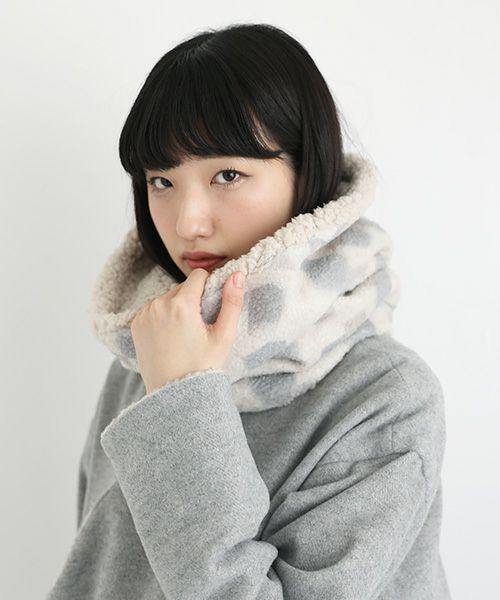 sneeuw スニュウ ボアネックウォーマー[snw22-46/A:beige]
