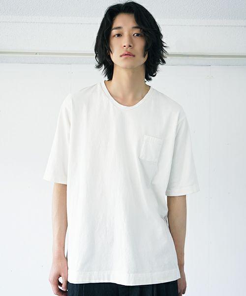 suzuki takayuki スズキタカユキ pocket t-shirt[A212-01/nude]