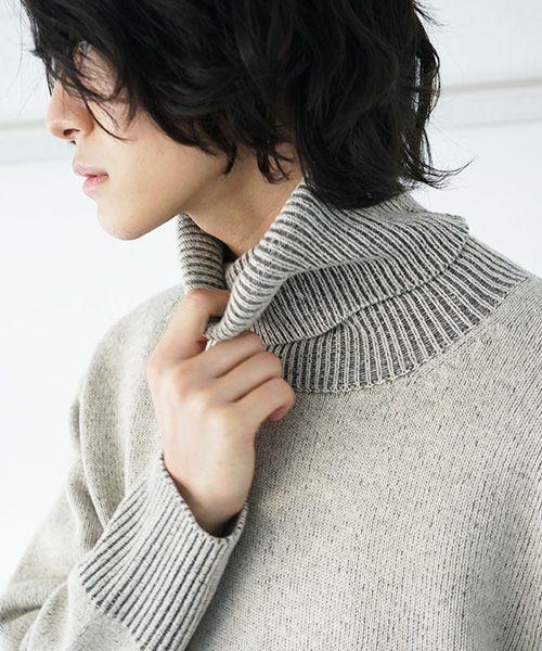 suzuki takayuki スズキタカユキ turtle-neck pullpver[A212-05/nude]
