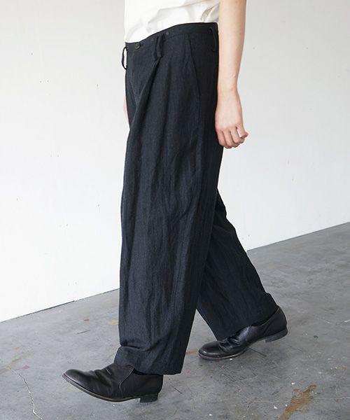 suzuki takayuki スズキタカユキ wide legged pantsⅠ[A212-19/black]