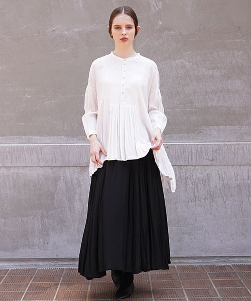 suzuki takayuki スズキタカユキ broad blouse[A211-05/nude]