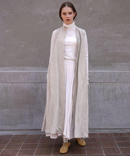 suzuki takayuki スズキタカユキ sleeveless dress[A211-10/nude]