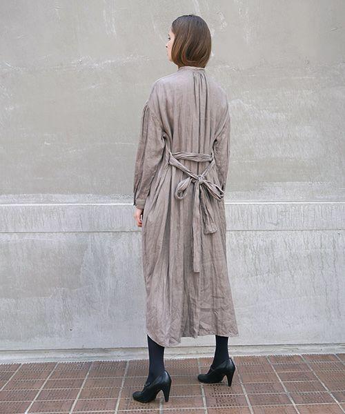 suzuki takayuki スズキタカユキ shirt dress[A211-13/nude,grey]