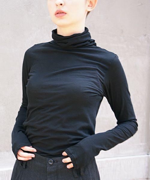 suzuki takayuki スズキタカユキ turtle-neck t-shirt[T001-08/nude,ice grey,grey,black]