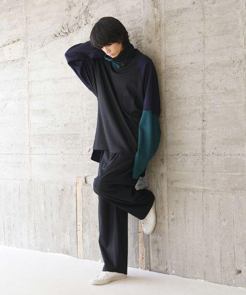 VU ヴウ highneck knit vu-s02-k04[BLACK MIX]