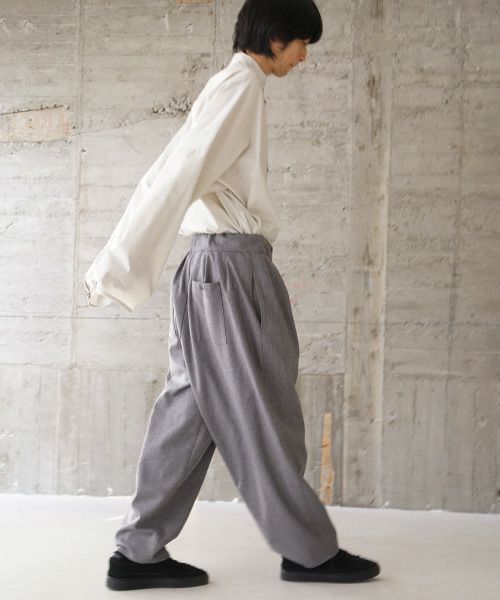 VU ヴウ wide pants vu-s02-p07[LIGHT GRAY]