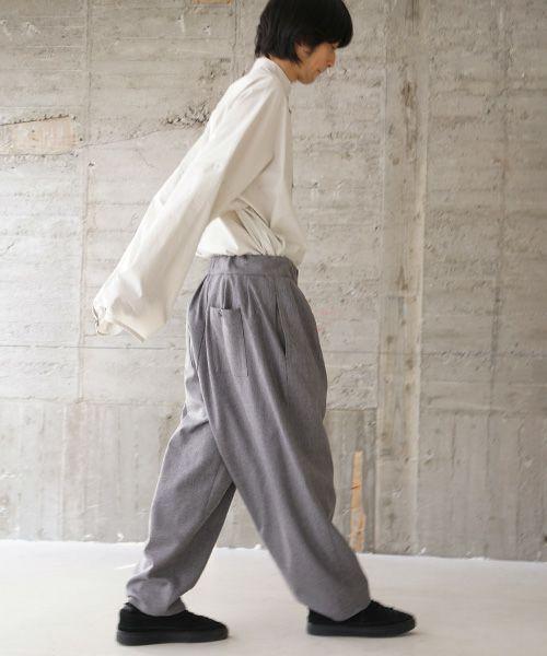 VU ヴウ wide pants vu-s02-p07[LIGHT GRAY]