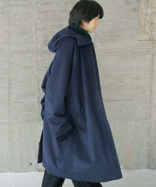 VU ヴウ hood coat vu-s20-c13[BLUE]
