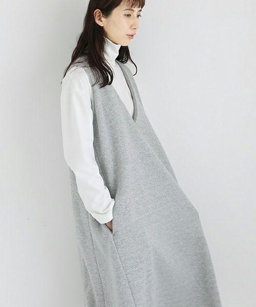 Mochi モチ v-neck one piece [top grey merange]