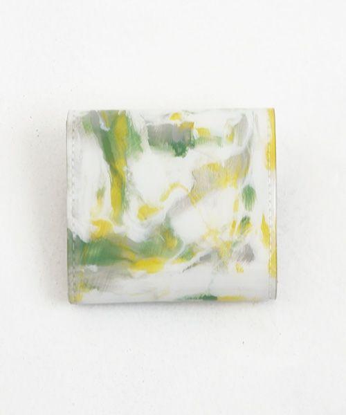 macromauro×Palm maison マクロマウロ×パームメゾン  Palm maison original paint wallet  P yellow
