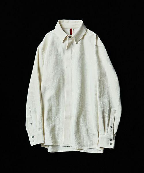 YANTOR ヤントル 6ply Khadi Flyfront Shirts[Y204SH01/WHITE]