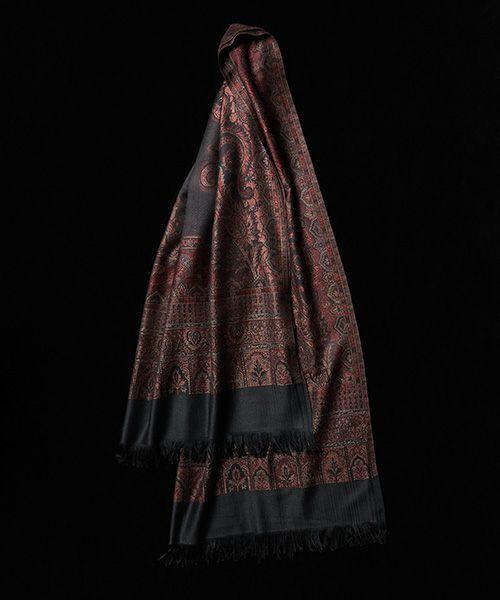 YANTOR ヤントル Tibetan Paisley Jacquard Wool Store[Y204ST01/RED]