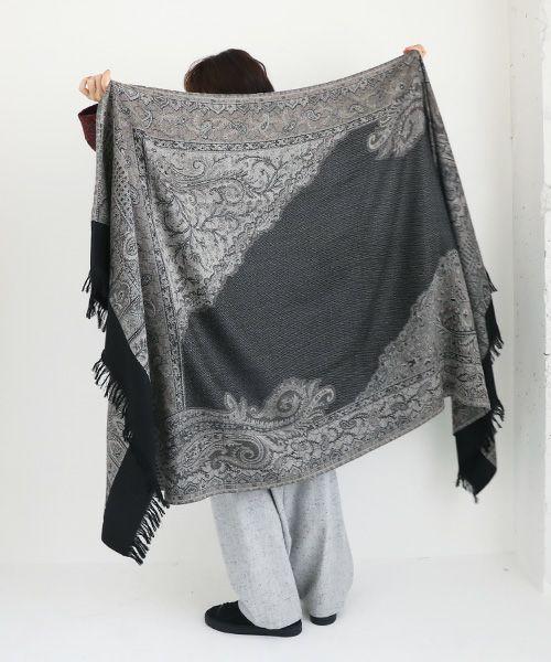 YANTOR ヤントル Tibetan Paisley Jacquard Wool Store[Y204ST01/GRAY]