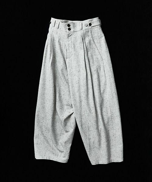 YANTOR ヤントル Stone Nep 2tuck Wide Pants[Y204PT02/WHITE]